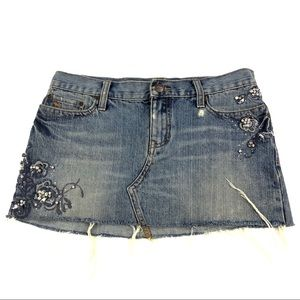 Abercrombie Women's Blue Jean Skirt 2